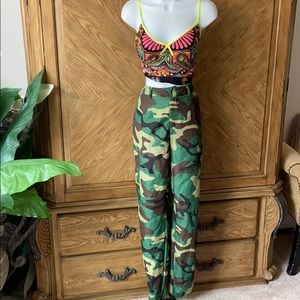PrettyLittleThing Camouflage Cargo style joggers
